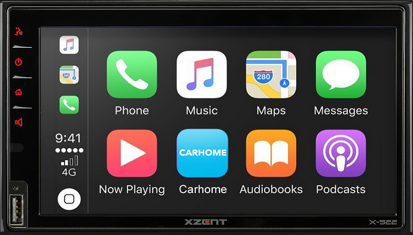 XZENT X-522 2-DIN APPLE CARPLAY A GOOGLE ANDROID AUTO