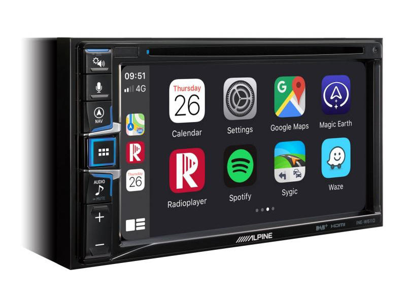 Alpine INE-W611D autorádio s Apple CarPlay a Android Auto